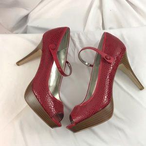 Like New Style & Co. sz9.5 red peep toe heels